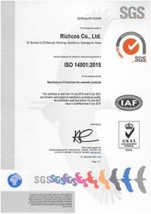 SGS ISO 14001:2015